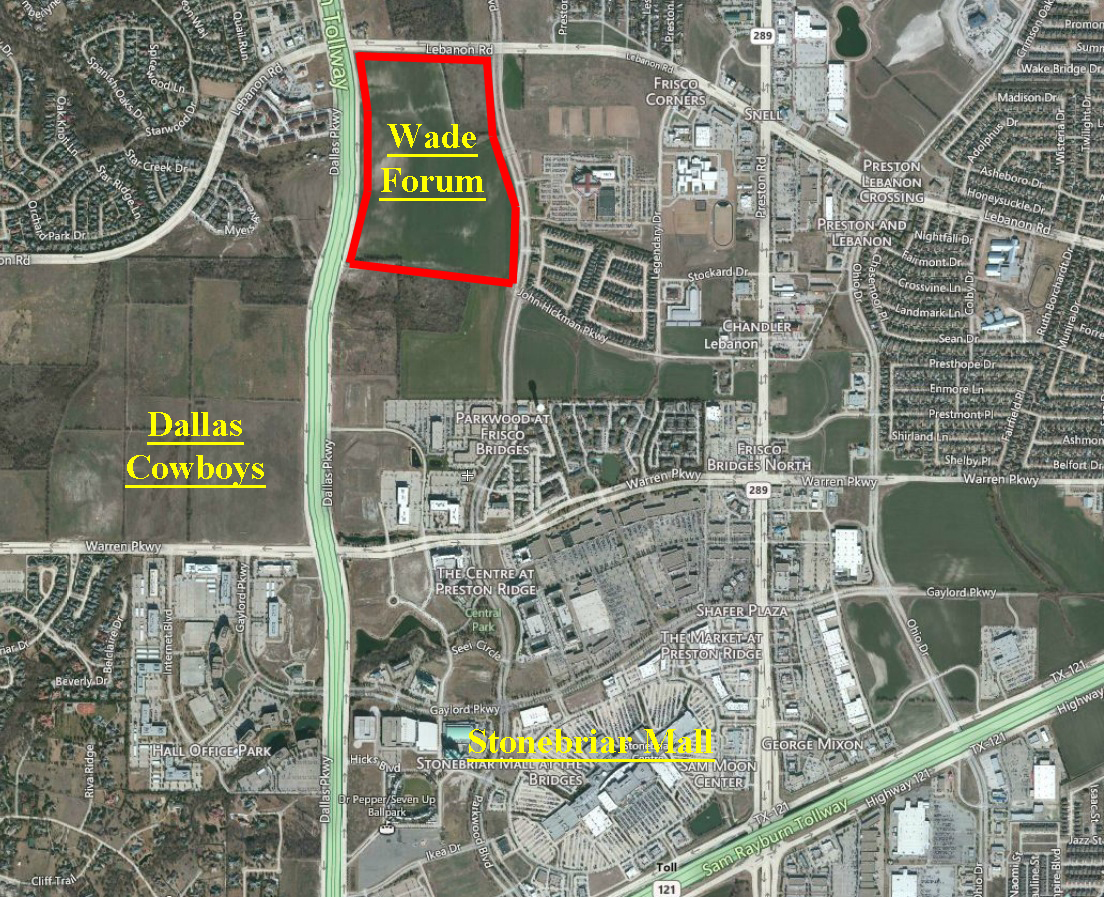 (Frisco, TX) The Wade Family, One Of The Patriarch Families Of Frisco, Has  Just Sold A Major Retail Corner To A Premier Urban Retail Developer.
